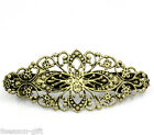 Wholesale Lots Gift Bronze Tone Flower French Hair Barrette Clips Copper 80x35mm