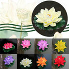 Artificial Fake Lotus Water lily Floating Flower Garden Pool Plant Ornament Home