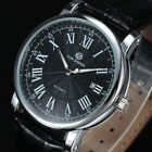 Imperial Stylish Automatic Mechanical Date Men's Wrist Watch Black/ White Dial