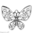 Wholesale Lots Gift Charm Pendants Hollow Butterfly Silver Tone 5.7cmx5cm