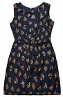 Ladies Floral Dress New Womens Sundress Plus Size Curve Dresses Navy UK 16 - 26