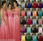 Formal Long Lace Evening Bridesmaid Dresses Party Ball Prom Gown Dress 6-24+++
