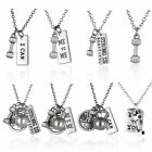 Fashion Gift Dumbbell Weight Pendant Fitness Weightlifting Gym Crossfit Necklace