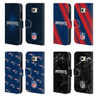 OFFICIAL NFL 2017/18 NEW ENGLAND PATRIOTS LEATHER BOOK CASE FOR SAMSUNG PHONES 1