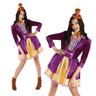 Rubies Womens Official Willy Wonka Chocolate Factory Fancy Dress Costume Outfit