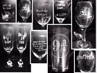 Harry Potter engraved glass design 2 etched choice glass  design personalised