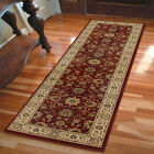 Red Bordered Scrolls Vines Traditional-Persian/Oriental Area Rug Floral 1243