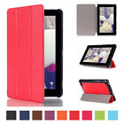 Colorful Tri-Fold Leather With Stand Case Cover for Amazon K