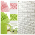 3D PE Foam Stone Brick Self-adhesive Wall Sticker Panels Home Room Decal 60* 60