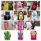 3D Cute Cartoon animal Dog Drink Plant Soft Silicone Back Phone Case For iPhone