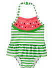 NWT Gymboree Girls Swim Swimsuit Green White Striped Watermelon FREE US SHIP NEW