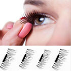 Magnet Fake Eyelashes Free Glue 3D Fake Eyelash Magnet Make up(1 pair 4 pcs)