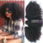 8A Brazilian Afro Kinky Curly Clip In Hair Extensions Virgin Human Hair 7pcs 70G