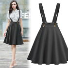 Women's Casual Holiday Workwear Office Dress Cocktail Party Flare Braces Skirt