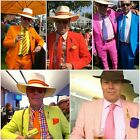 MENS SUITS Red Orange Turquoise Pink Green Yellow. Superior Lined 100% Cotton