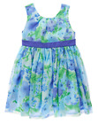 NWT Gymboree Baby Girl FAMILY BRUNCH Blue Floral Flower Dress NEW FREE US SHIP