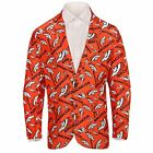 Forever Collectables NFL Men's Denver Broncos Ugly Business Jacket, Orange