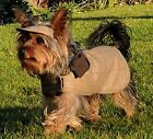 Quality Tweed Dog Coat & Hat ,quilted lining, UK Made - Custom Sizes available