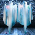 5ft Hanging LED Colour Changing Light Up Spooky Ghost Halloween Decoration Prop