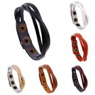Stylish Unisex Men Women Wrap Multilayer Leather Bracelet Braided Rope Jewelry
