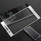 FULL CURVED EDGE 3D TEMPERED GLASS SCREEN PROTECTOR for Sony Xperia + GEL CASE  <br/> For Xperia XA1, XA1 Ultra, XZ Premium*FREE CLEAR Gel*