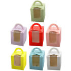 Birthday Bakery Paper Foldable Cake Cupcake Pastry Container Box Case 20pcs