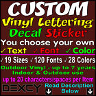 Custom Vinyl Lettering Vinyl Decal Stickers Car Window Boat Sign Wall Outdoor
