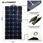 100W 12V Flexible Solar Panel with SunPower Solar Cell Kit Controller RV Boat US