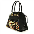 Petote Leopard & Black Haylee Pet Carrier Made in USA Purse Tote Dog Up to 12 Ib