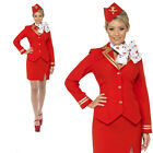 Air Stewardess Hostess Trolley Cabin Crew Fancy Dress Costume Ladies Outfit Sexy