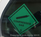 Compressed Gas - Adhesive Sticker