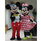 New Adult Size Mickey and Minnie Mouse Mascot Costume Halloween 2 piece Set