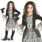Kids Girls Ghost Bride Corpse Zombie Halloween Horror Fancy Dress Costume Outfit