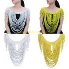 New Handmade Resin Beads Shoulder Cape Chain Statement Necklace Pendant Jewelry