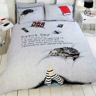 Contemporary & New Duvet Day Pattern – Duvet Cover Bedding Set - Grey