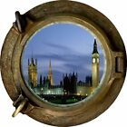 Huge 3D Porthole Houses of Parliment View Wall Stickers Mural Art Decal Wallpape