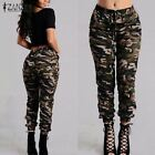 Camouflage Printed Pants Plus Size Army Cargo Pants Women Tr