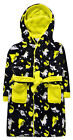 Boys Neon Dinosaur Robe New Kids Fleece Hooded Dressing Gown Ages 2 - 6 Years