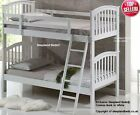 White Wooden Bunk Bed - Solid Wood - Cosmos Single Twin Bunks - New Kids Beds