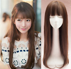 Silk Synthetic hair Topper Piece Women Hairpiece Toupee topper closure with bang
