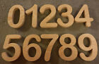 "Complete Set of Numbers 0-9,  Arial Rounded 5 to 7"" inch number sign, wood"
