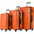 Merax Luggage Set tags 3 piece Hardside Lightweight Spinner Suitcase with Lock