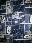 Star Wars Luke Skywalker, Darth Vader on blue Fabric - Sold by the Yard $11.0 USD