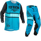 Fly Racing 2018 Kinetic Era Motocross Jersey & Pants Blue Black Kit ATV FMX Gear