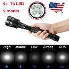 50000 Lumens Flashlight Torch 5Modes 5x CREE XML-T6 LED 16805 Battery Charger sk