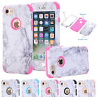 Granite Marble Hybrid Rubber Shockproof Hard Case Cover For