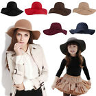 Cute Khaki Girls Summer Sun Floppy Hat Felt Caps Wide Brim Beach Hat Cheap