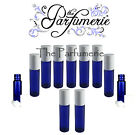 Cobalt Blue Glass Aromatherapy 10 ml Roll on Bottles Essential Oils NOT FROSTED