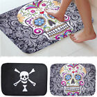 40x60cm Home Skull Flower Background Indoor Outdoor Floor Mat Doormat Decor
