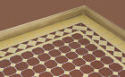 Victorian floor tile borders & corners - Black/white & Red/mustard